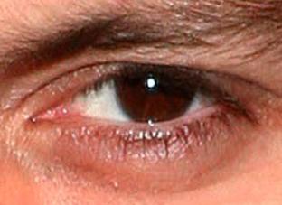 The eye of Johnny Depp