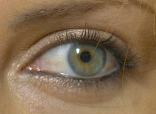 The eye of Charlize Theron