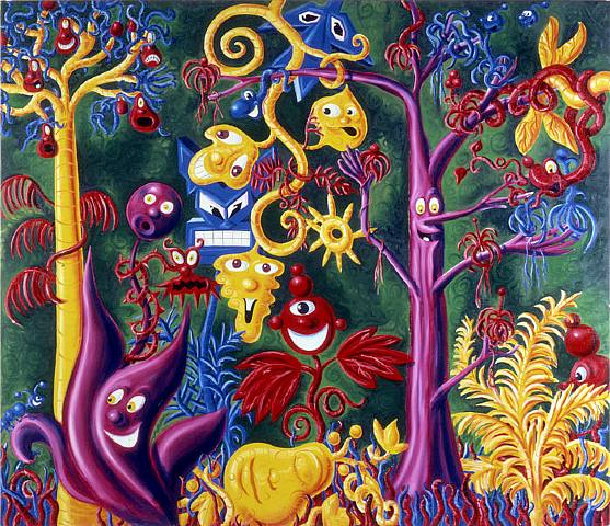 'JUICY JUNGLE' by Kenny Scharf 1983-4