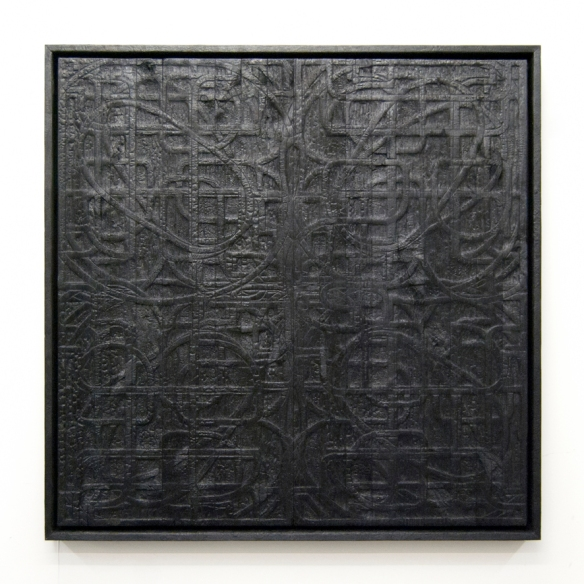 'RIOT' Charred wood and aluminium 2011