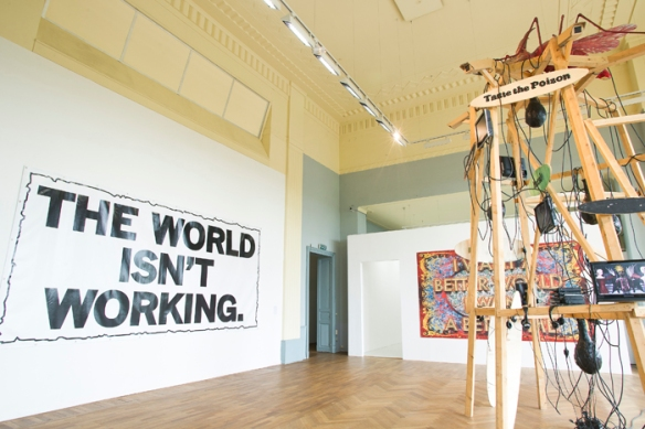 Mark Titchner_The World Isn't Working & Mark Titchner_I Want a Better World, I Want a Better Me & Damien Deroubaix_Der Schlaf der Vernunft_DL(2)
