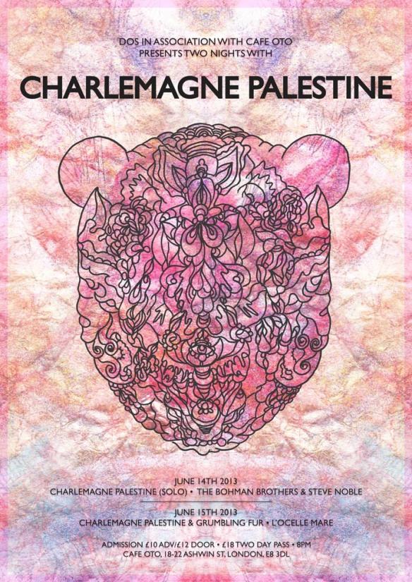 Charlemagne palestine poster oto